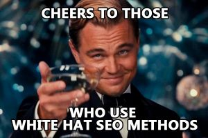 Use only white hat SEO methods