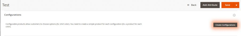 Create configuration product in Magento 2