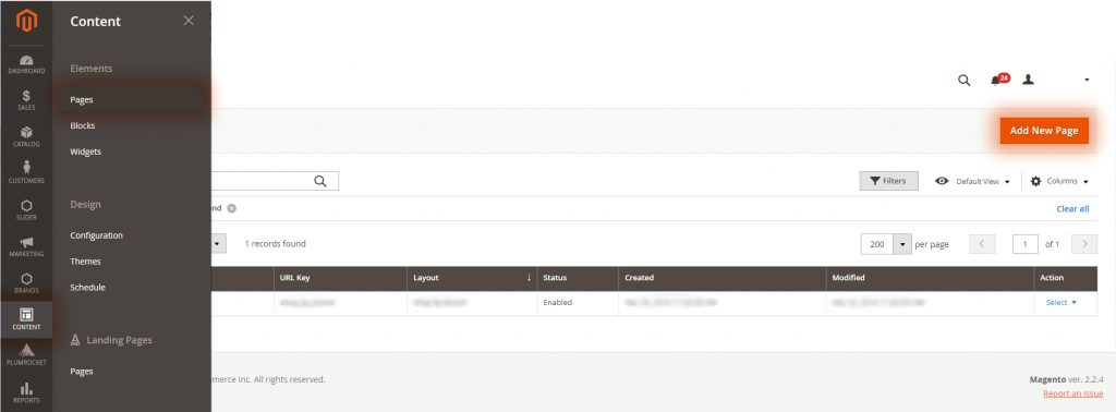 Magento 2 allows creating Custom pages