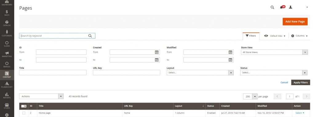 Creating Home page in Magento 2