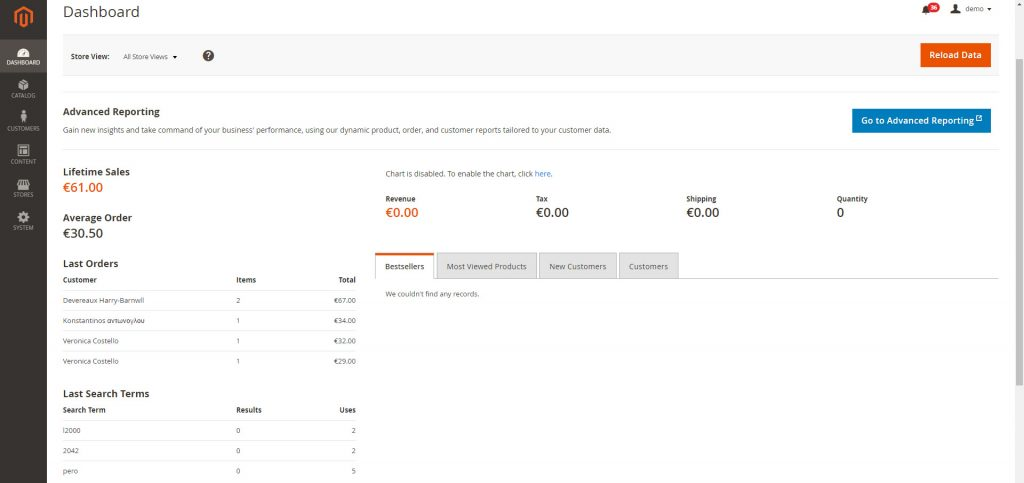 Admin panel in Magento 2 is very convenient